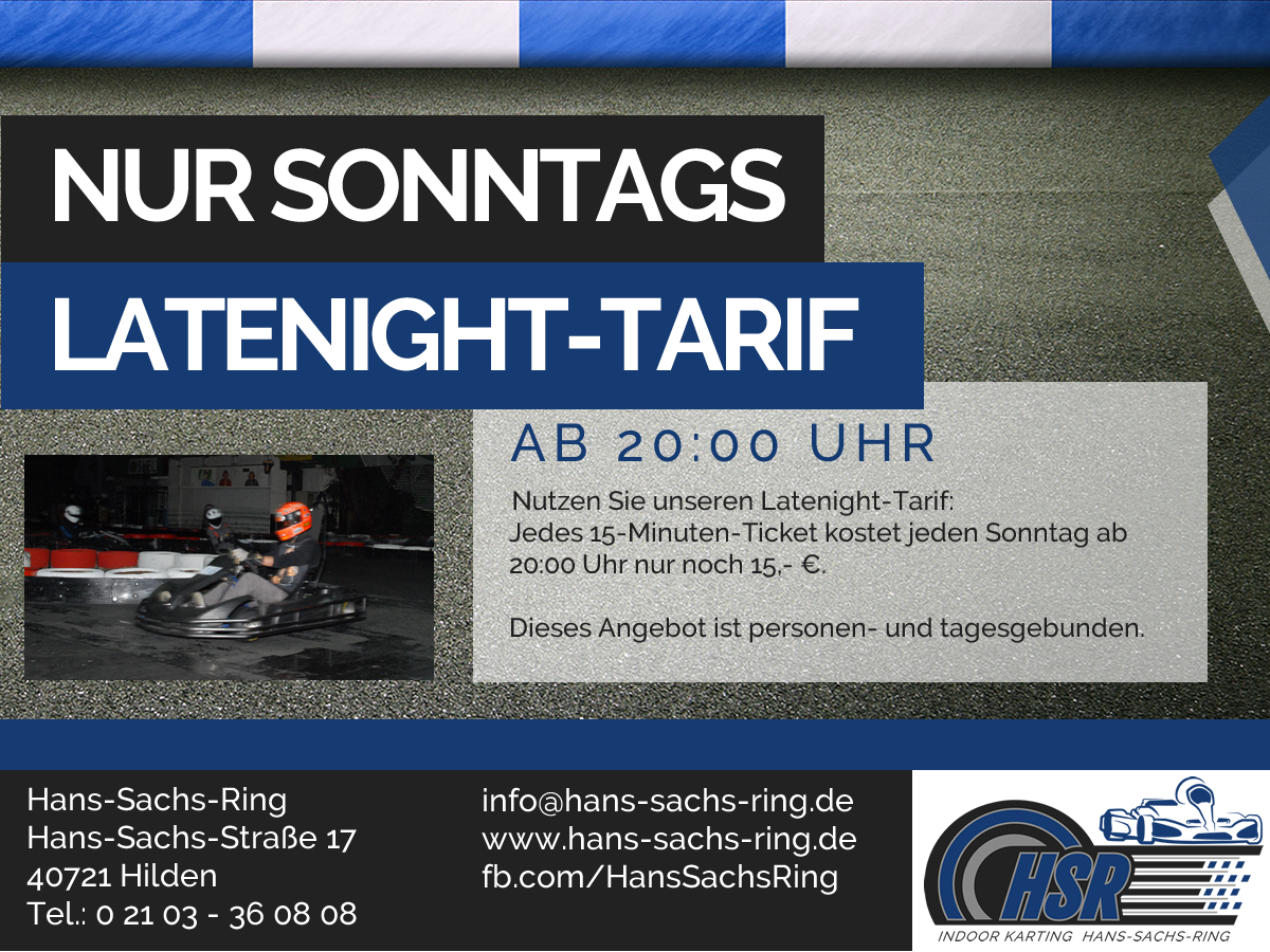 Angebot Latenight-Tarif